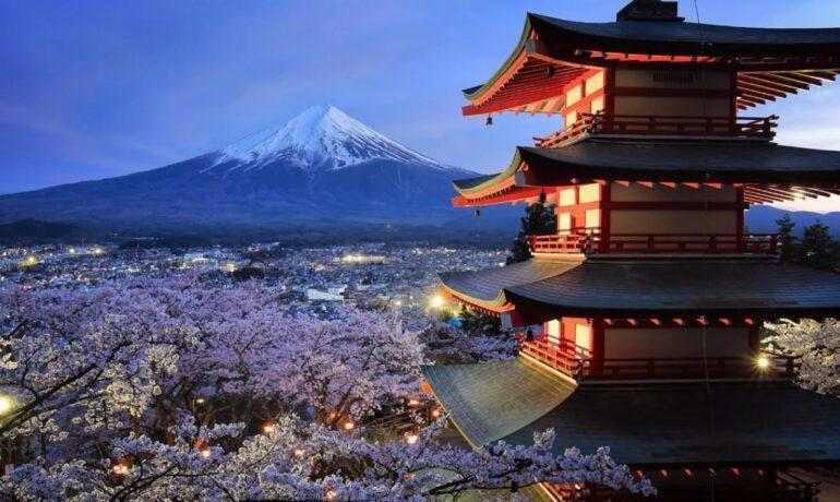Япония - страна цветущих вишнёвых деревьев