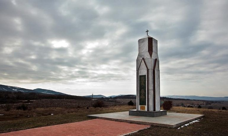 Достопримечательности Крыма: Итальянское кладбище на горе Гасфорта
