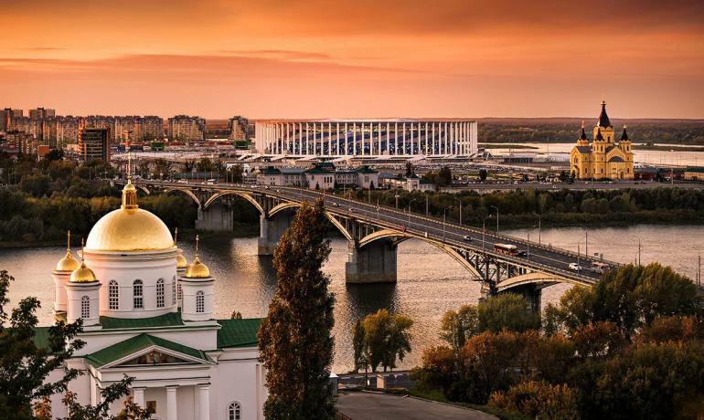 Нижний Новгород в ладонях Волги и Оки