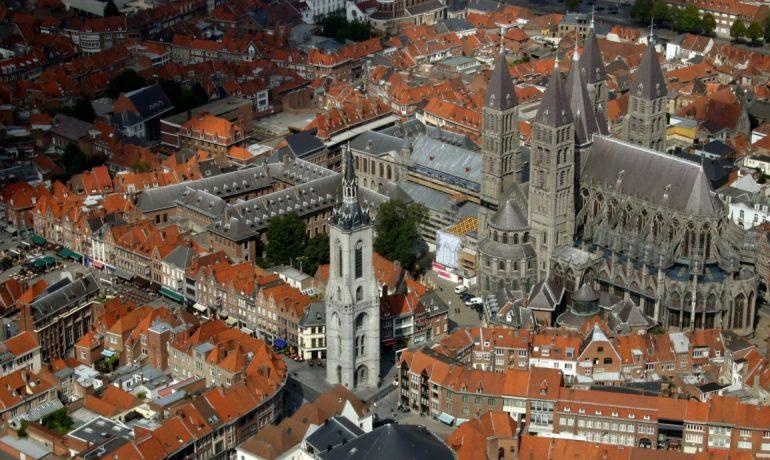 Кафедральный собор Нотр-Дам в городе Турне, Бельгия