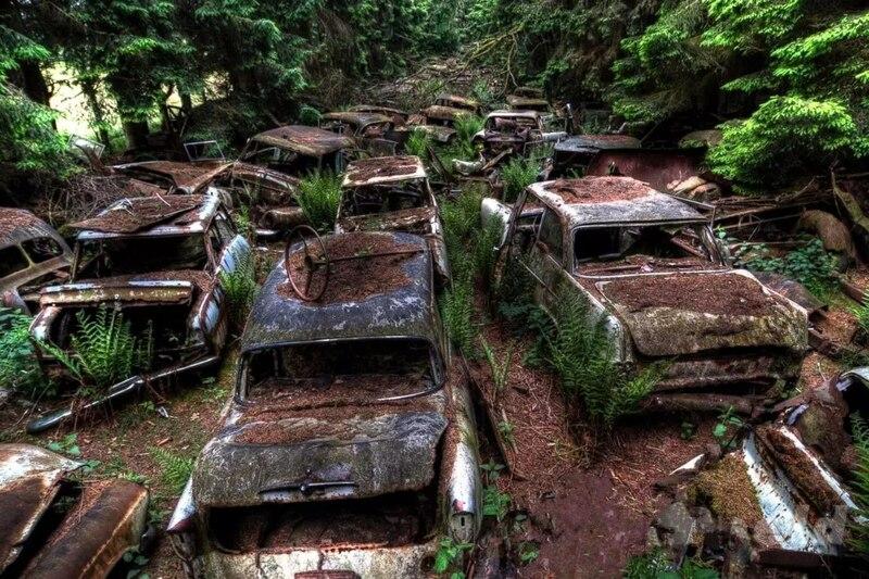 В лесах и на дне морском: ТОП-5 живописных кладбищ старых авто