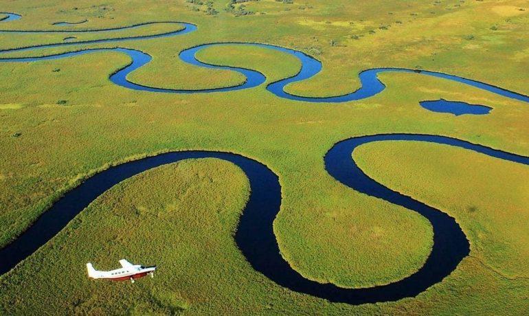 Дельта Окаванго, Ботсвана - объект Всемирного наследия Юнеско