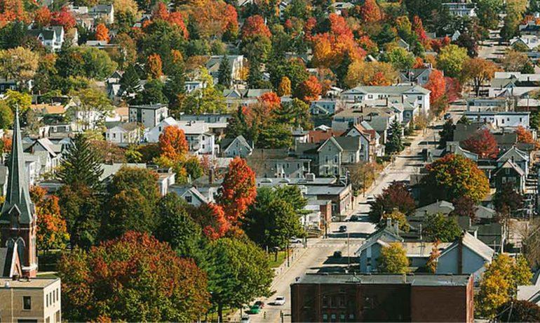 Маленькие города штата Нью-Хэмпшир, США